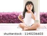 asian children cute or kid girl ... | Shutterstock . vector #1140236603