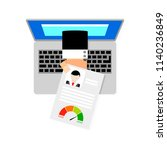 online loan request. credit... | Shutterstock .eps vector #1140236849