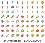 food colored icon | Shutterstock .eps vector #1140236906