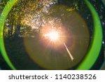 spheric lens flare chromatic... | Shutterstock . vector #1140238526