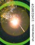 spheric lens flare chromatic... | Shutterstock . vector #1140238529