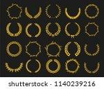 golden vector laurel wreaths on ... | Shutterstock .eps vector #1140239216