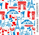 france seamless pattern. french ... | Shutterstock .eps vector #1140239579