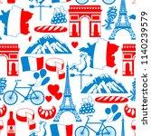 france seamless pattern. french ...   Shutterstock .eps vector #1140239579