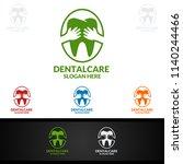 dental logo tooth abstract... | Shutterstock .eps vector #1140244466