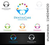 dental logo tooth abstract... | Shutterstock .eps vector #1140244520