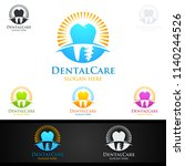 dental logo tooth abstract... | Shutterstock .eps vector #1140244526