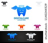 dental logo tooth abstract... | Shutterstock .eps vector #1140244529