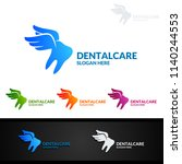 dental logo tooth abstract... | Shutterstock .eps vector #1140244553