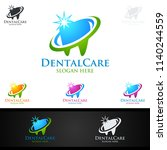 dental logo tooth abstract... | Shutterstock .eps vector #1140244559