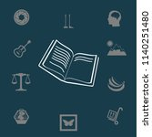 the litle book vector... | Shutterstock .eps vector #1140251480