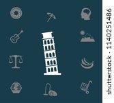 tower of pisa vector... | Shutterstock .eps vector #1140251486