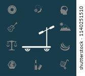 ride a scooter vector | Shutterstock .eps vector #1140251510