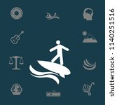 surfer vector illustration | Shutterstock .eps vector #1140251516