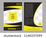 double sided flyer design  | Shutterstock .eps vector #1140257099