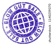 blow out sale stamp imprint... | Shutterstock .eps vector #1140259370