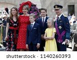 the belgian royal family pose...   Shutterstock . vector #1140260393
