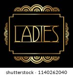 beautiful art deco ladies ... | Shutterstock .eps vector #1140262040