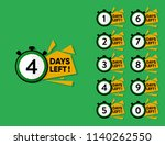 countdown number of days left... | Shutterstock .eps vector #1140262550