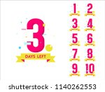 countdown number of days left... | Shutterstock .eps vector #1140262553