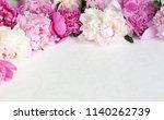 pink floral   pink peonies... | Shutterstock . vector #1140262739