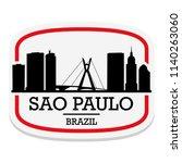 sao paulo brazil label stamp... | Shutterstock .eps vector #1140263060