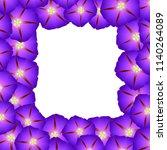 purple morning glory flower...   Shutterstock .eps vector #1140264089