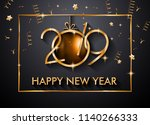 2019 happy new year background... | Shutterstock . vector #1140266333