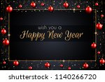 2019 happy new year background... | Shutterstock . vector #1140266720