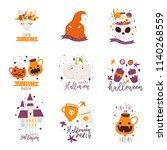 vector hand drawn illustrations ... | Shutterstock .eps vector #1140268559