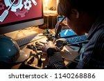 asian technical engineer using... | Shutterstock . vector #1140268886