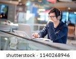 young asian business man... | Shutterstock . vector #1140268946