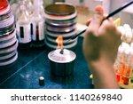 microbiological inoculation... | Shutterstock . vector #1140269840