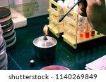 microbiological inoculation...   Shutterstock . vector #1140269849