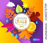 autumn sale. seasonal offer... | Shutterstock .eps vector #1140272759