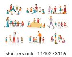 bundle of preschool or... | Shutterstock .eps vector #1140273116