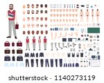 male teacher constructor or diy ... | Shutterstock .eps vector #1140273119