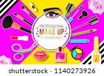 make up paper art background.... | Shutterstock .eps vector #1140273926