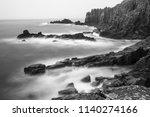 lands end england b w | Shutterstock . vector #1140274166