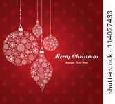 christmas ball made of... | Shutterstock .eps vector #114027433
