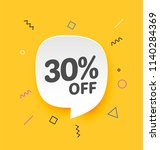 30  off  flat sales vector... | Shutterstock .eps vector #1140284369
