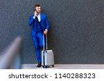 portrait of handsome young man... | Shutterstock . vector #1140288323