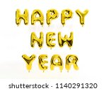 glossy gold letter happy new...   Shutterstock . vector #1140291320