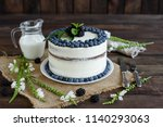 beautiful tasty cake with white ...   Shutterstock . vector #1140293063