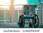 wheelchair on the background of ... | Shutterstock . vector #1140296549
