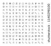 navigation flat icon set.... | Shutterstock .eps vector #1140298100