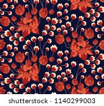 flower pattern on navy | Shutterstock .eps vector #1140299003