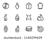 set of black vector icons ... | Shutterstock .eps vector #1140299639