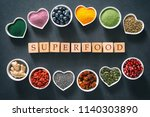various colorful superfoods as... | Shutterstock . vector #1140303890
