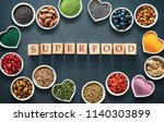 various colorful superfoods as... | Shutterstock . vector #1140303899